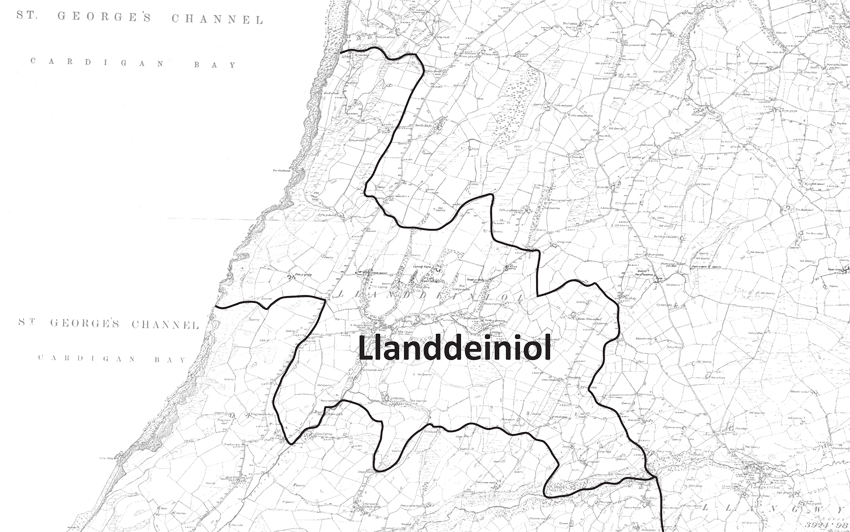 Llanddeiniol Parish Boundary Map