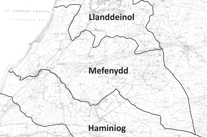 Llanrhystud Mefenydd Parish Boundary Map