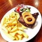 Steak and Chips Llanrhystud pub meal