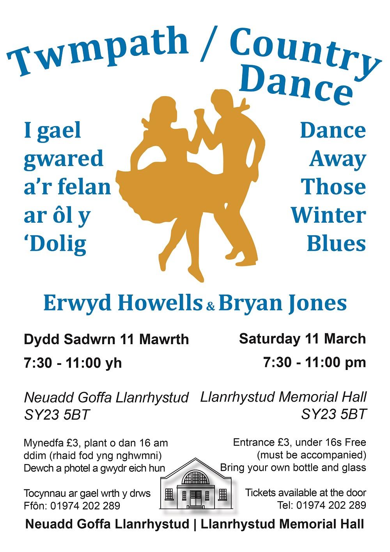 Twmpath Llanrhystud Memorial Hall Saturday 11 March 2017